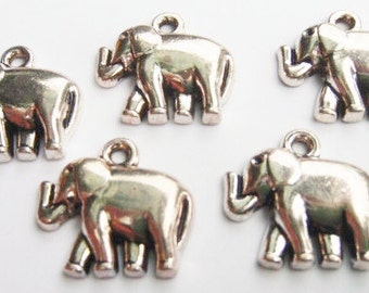 10 Elephant Charms 20x18mm ITEM:AD3