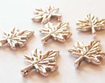 10 Maple Leaf Charms 14x17mm