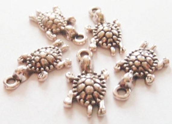 10 Turtle Charms 23x12mm