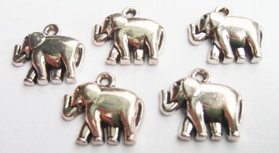 10 Elephant Charms 20x18mm ITEM:AD3