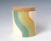 medium cork jar - wave design