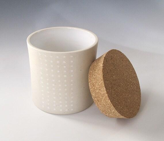 dotted cork jar - Medium