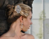 Princess Grace Heirloom Rhinestone Brooch Hair Comb