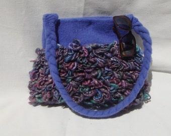 Purple mulit color shag bag