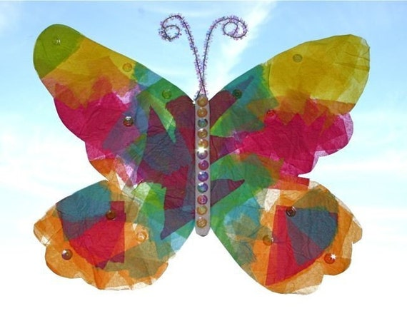 Stained Glass Butterfly Kid Kit