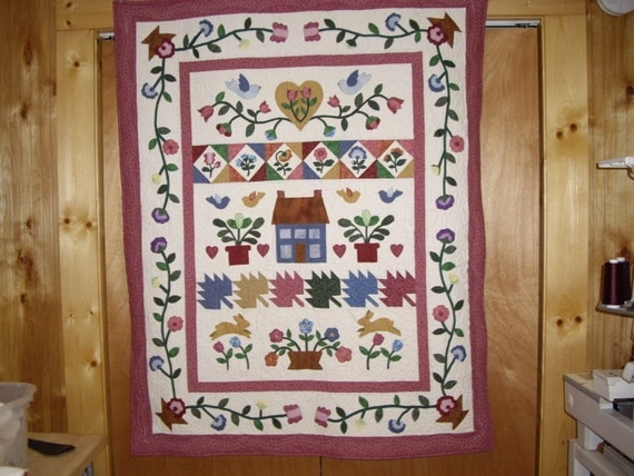Country Style Appliqued Quilt