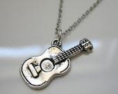 Acoustic Guitar Charm Necklace