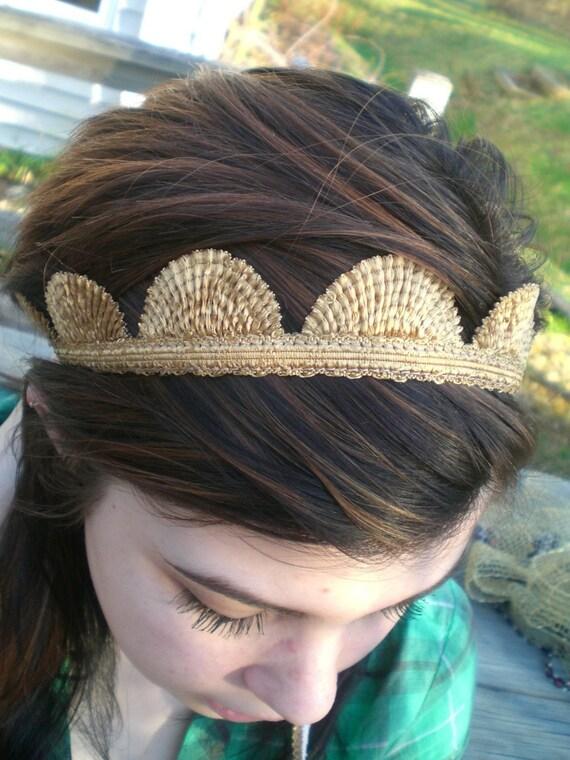 crowning glory gold princess headband
