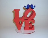 LOVE wedding cake topper with love birds