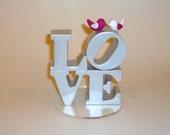 Bird and Love wedding cake topper