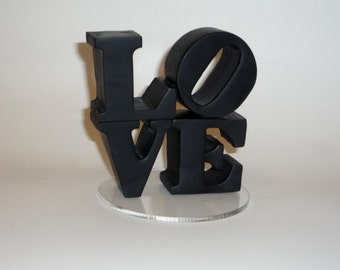 LOVE Wedding Cake Topper  - custom colors