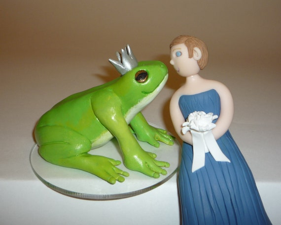 frog wedding cake toppers items similar to wedding cake topper frog prince and 14499