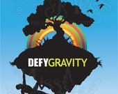 Rock Climbing Inspirational Print - Defy Gravity by Miss Megs