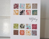 Happy Everything Patchwork Card