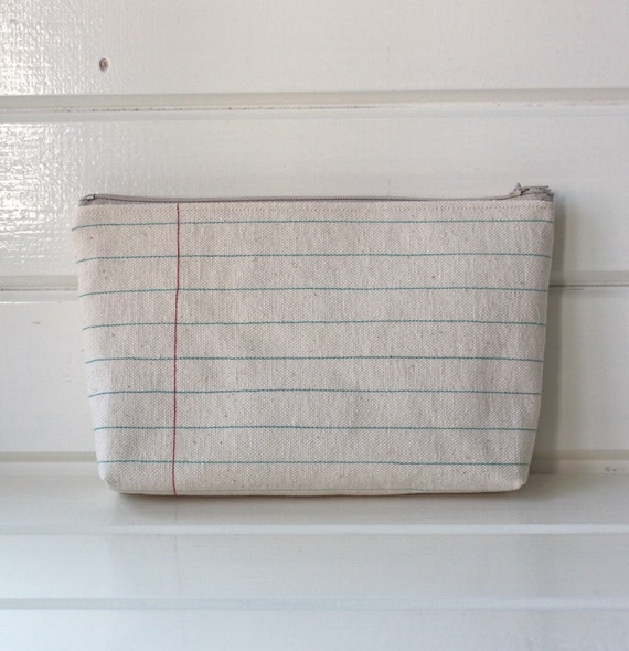 Notebook Lines Pouch