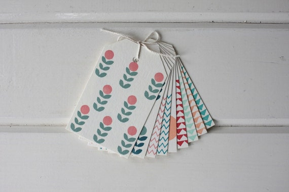 Nine Assorted Happy Gift Tags
