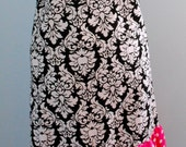 Cute n' Sassy Black Damask Apron