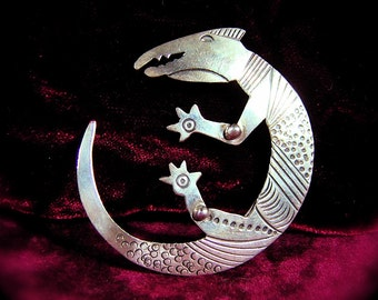 Sterling Silver LIZARD BROOCH