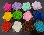 36mm Flower Cabochon Assortment - 20x (Choose your own colour)