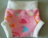 Hearts fleece soaker choose your own size