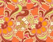 Disco Flower in Tangerine, Amy Butler Soul Blossoms, 1 yard