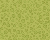 EXTREME SAVINGS Verona Flowers in Green, Verona by Emily Taylor Design, Riley Blake, 1 Yard