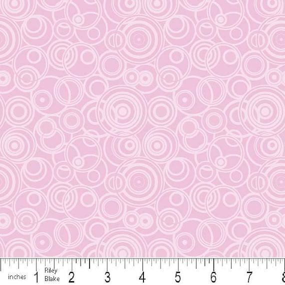 Pink Enchanted Circles, Enchanted Garden by Samantha Walker, Riley Blake, END OF BOLT Sale 1 Yard 12 inches