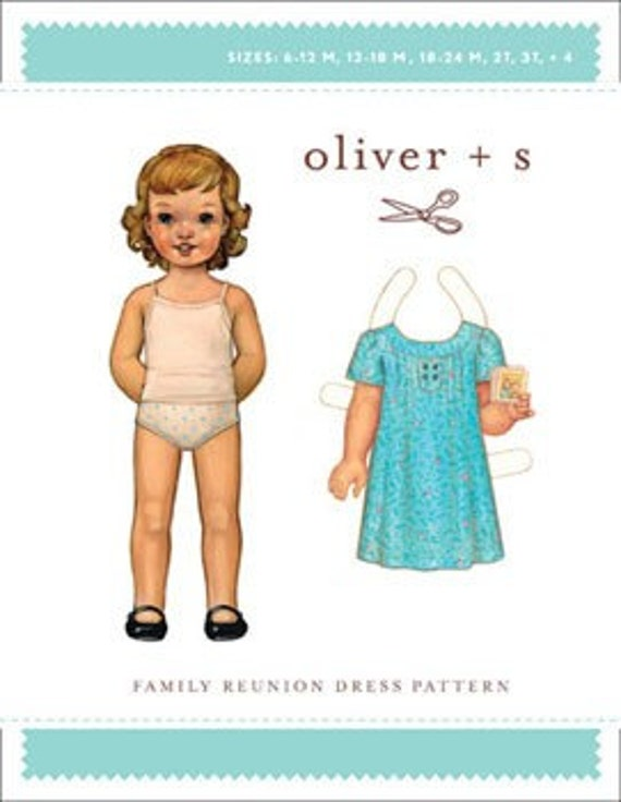 Family Reunion Dress Pattern by Oliver and S, Sizes 5 to 12, plus Free Shipping with any other purchase