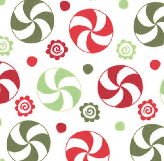 Going Out Of Business Sale Peppermint Swirl Gumdrop, Flurry by Kate Spain for Moda, 1 yard