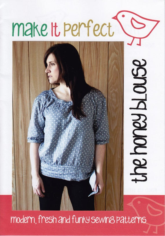 The Honey Blouse Pattern by Make it Perfect, plus Free Shipping with any other purchase