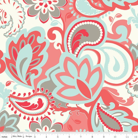 Verona Main in Rouge, Verona by Emily Taylor Design, Riley Blake, LAST FAT QUARTER