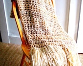 Throw Blanket cream tans and browns, Super soft with fringe, Wheat,  home design, interior design, home decor, MADE TO ORDER