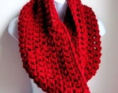 """Reserved for courtneyainslie Bordeaux Red Scarf Cowl-  Extra Large Chunky Scarf   """"Buy one get one 50% off lowest price"""""""