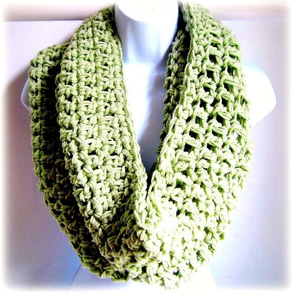 """Reserved for Sam Infinity Scarf Celery Green, Sage Green Extra Large Chunky Scarf """"Buy one get one 50% off lowest price"""""""