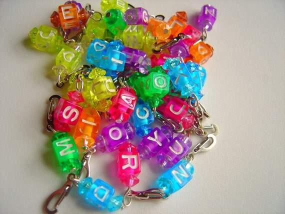 Stitch Markers,Alphabet ABC's 26 alpha markers PLUS one with a heart