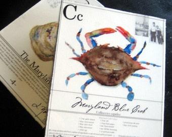 Maryland Blue Crab on Canvas- 8x10