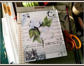 Louisiana Cotton on Canvas 8x10