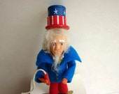 Uncle Sam Figural Decoration Candy Container