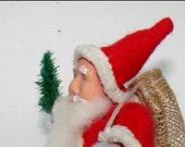 Santa Claus Figure Net Candy Bag Vintage inspired