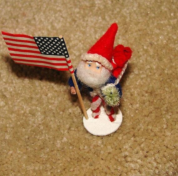 Patriotic Santa Claus Christmas Decoration