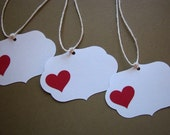 sweet white valentine gift tags