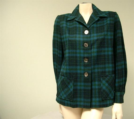Vintage Pendleton 49er Womens Jacket Wool Tartan By