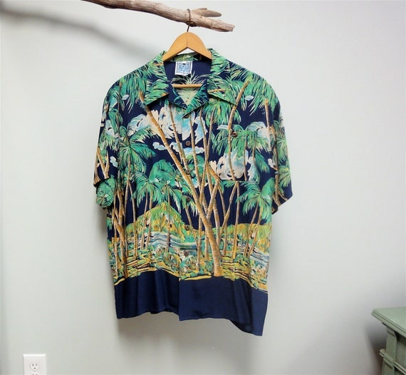 Silk Palm Trees Palm Tree Aloha Shirt