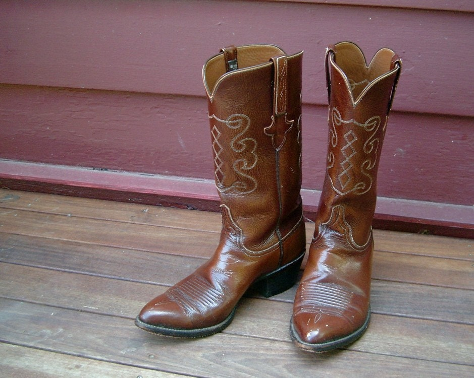 Beautiful Vintage Lucchese Cowboy Boots Rich by StelmaDesigns