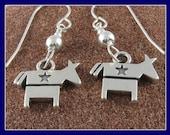 Democratic Sterling Silver Earrings