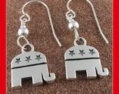 Republican Sterling Silver Earrings