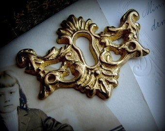 Lovely ornate solid brass Keyhole plate