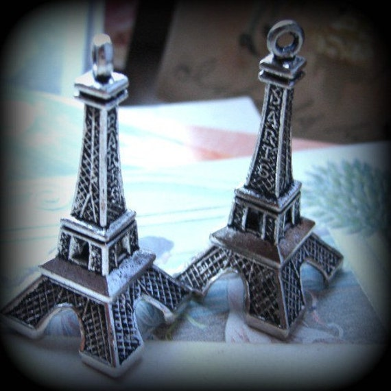 Big Eiffel Tower charms pendants,
