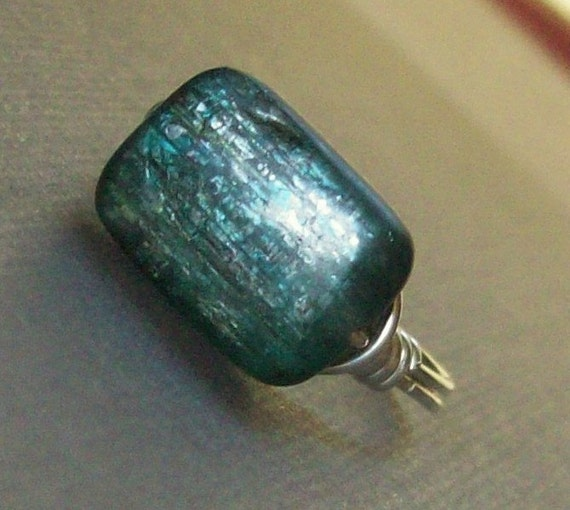 Frozen - Kyanite Ring - Argentium Sterling Silver - Custom Sizes - Love Ms. Rose