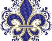 Lacy Fleru de Lis Embroidery Design